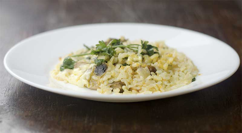 Jose Mier risotto recipe on plate