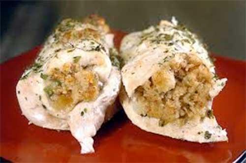 Chef Jose Mier's stuffed chicken