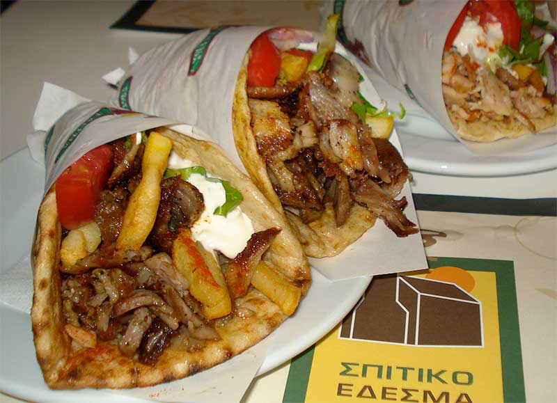 Greek gyros by Chef Jose Mier