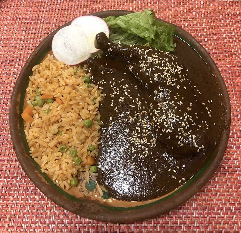 Mole plate at RJM Mexican Grill Sun Valley CA