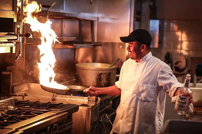 Chef Jose Mier in Kitchen
